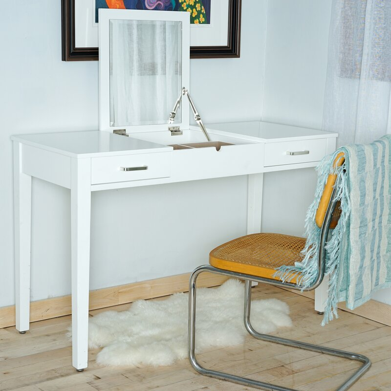Haven Home Vanity Desk With Mirror