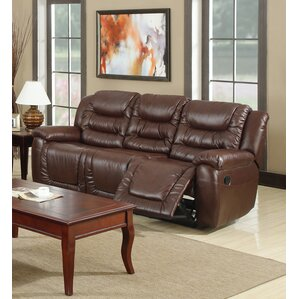 Toronto Leather Reclining Sofa by Beverly Fi..