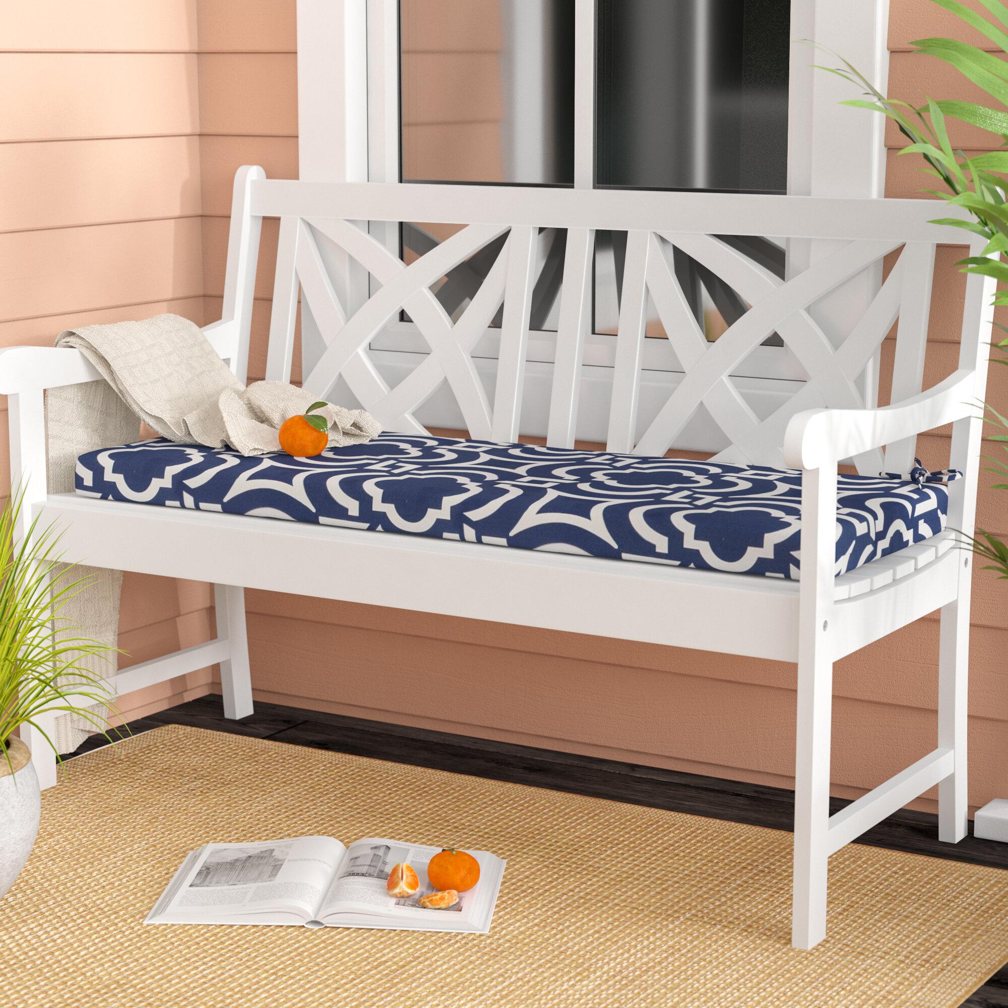 Breakwater Bay Geometric Indoor Outdoor Bench Cushion Reviews Wayfair