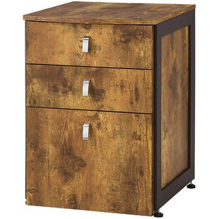 Vollmer Antique 3-Drawer Vertical Filing Cabinet