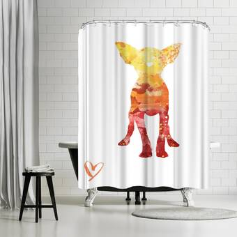 East Urban Home Allison Gray Horse Single Shower Curtain Wayfair