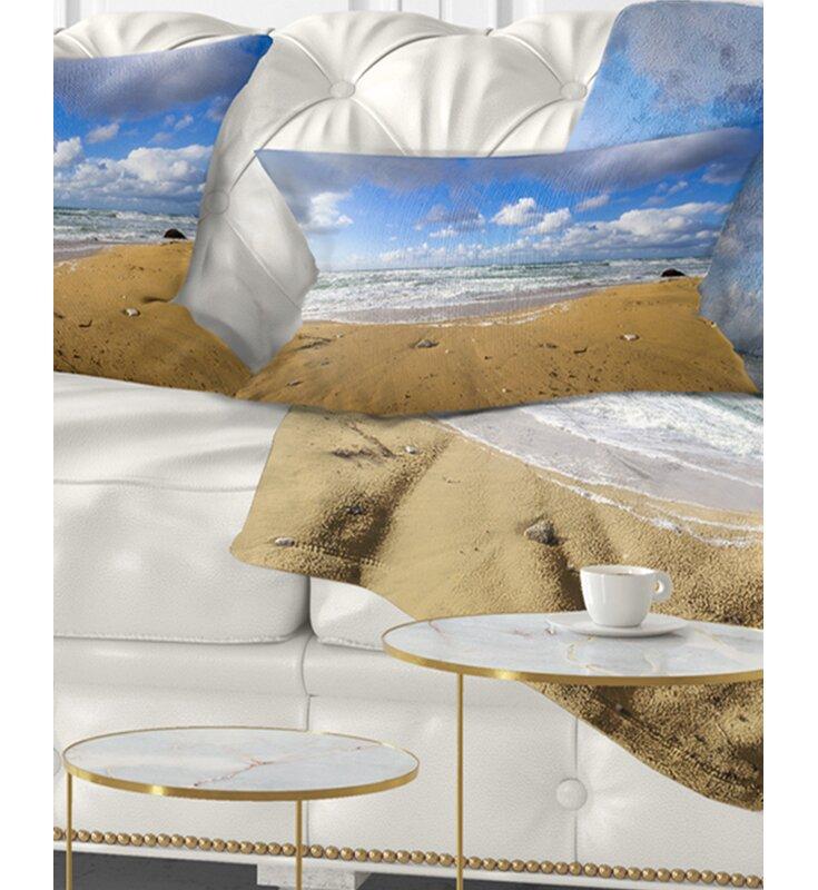 East Urban Home Seashore Sea Beach On Cloudy Winter Day Lumbar Pillow Wayfair