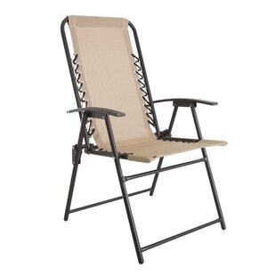 Suspension Folding Camping Chair by Pure Garden