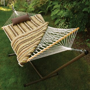 Hoyt 4 Piece Rope Cotton Hammock with Stand