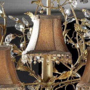 Chandelier lamp shades wayfair pinza 13cm silk bell candelabra shade aloadofball Choice Image