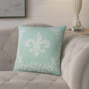 Clematite Fleur de Lis Linen Throw Pillow