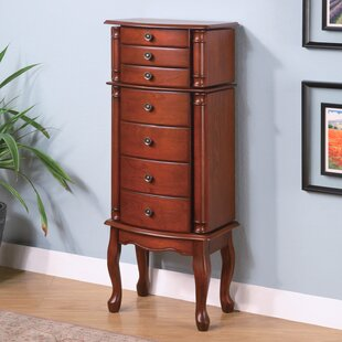Reviews Wapato Jewelry Armoire with Mirror ByWildon Home ®