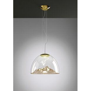Orren Ellis Butera 1-Light Bowl Pendant