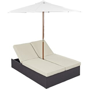 Modway Double Chaise Lounge wi..