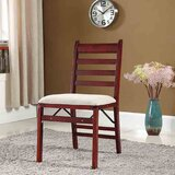 Sleaford Upholstered Ladder Back Folding Side Chair (Set of 2) by August Grove®