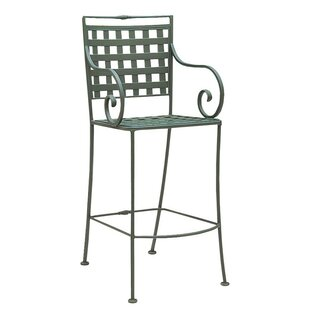 Sheffield Stationary 32.5'' Patio Bar Stool with Cushion