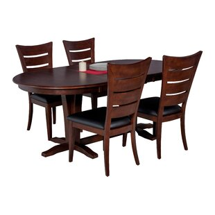 Doretha 5 Piece Solid Wood Dining Set