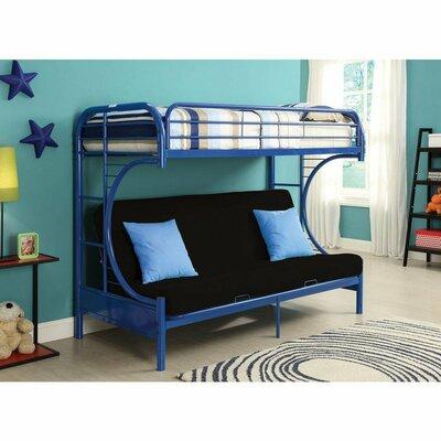 Zoomie Kids Kelm Futon Twin Futon Bunk Bed Colour: Blue