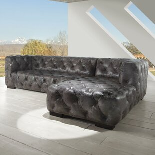 Manhattan Sectional By Lazzaro Leather