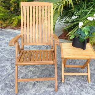 Miami Folding Teak Patio Dining Chair