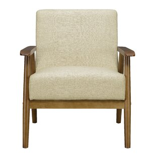 Modern Contemporary Exposed Wood Frame Arm Chair Allmodern