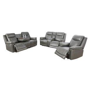 Annaliya 3 Piece Faux Leather Reclining Living Room Set by Ebern Designs