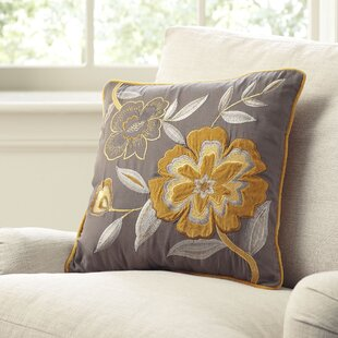 Hattie Marigold Embroidered Pillow Cover