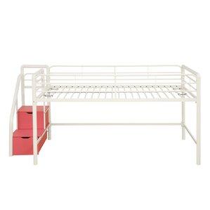 catalina junior twin loft bed with storage