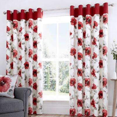 Vorhang-Set Reger mit Ösen  blickdicht   Heimtextilien > Gardinen und Vorhänge > Vorhänge   Cream   Polyester - Latex   17 Stories