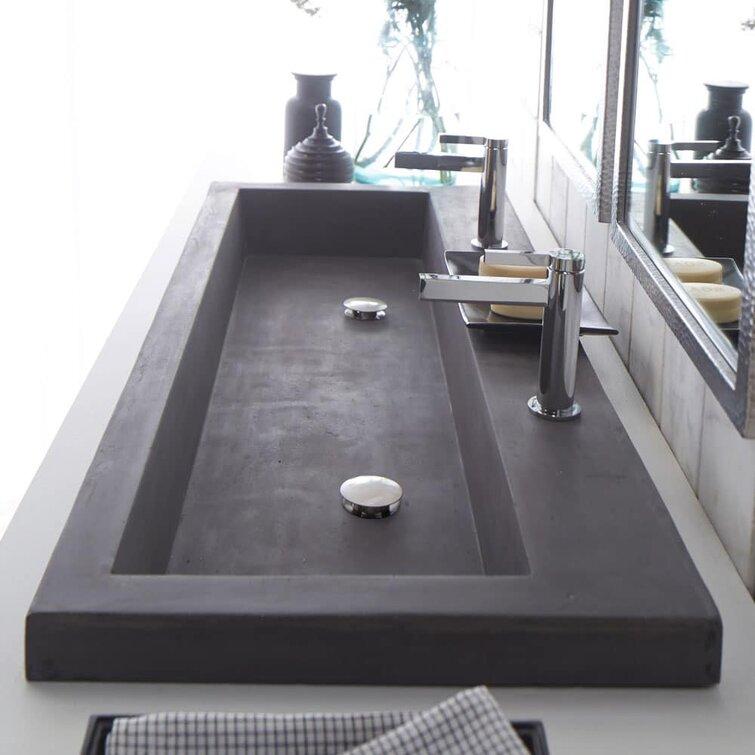 Native Trails Trough Concrete Handmade Rectangular Drop In Bathroom Sink Reviews Wayfair