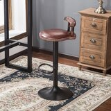 Ameena Swivel Adjustable Height Bar Stool by Charlton Home®