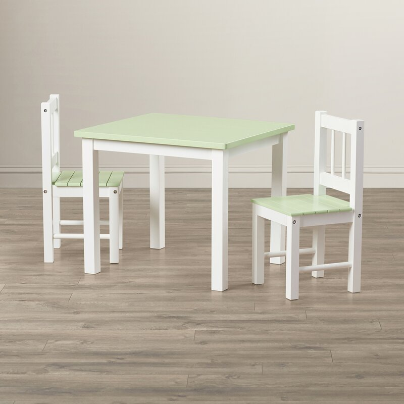 Jody Kids\u0027 3 Piece Table and Chair Set & Harriet Bee Jody Kids\u0027 3 Piece Table and Chair Set \u0026 Reviews   Wayfair