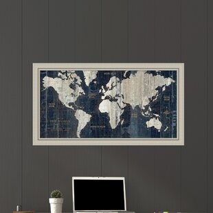 Old World Map Framed Wayfair