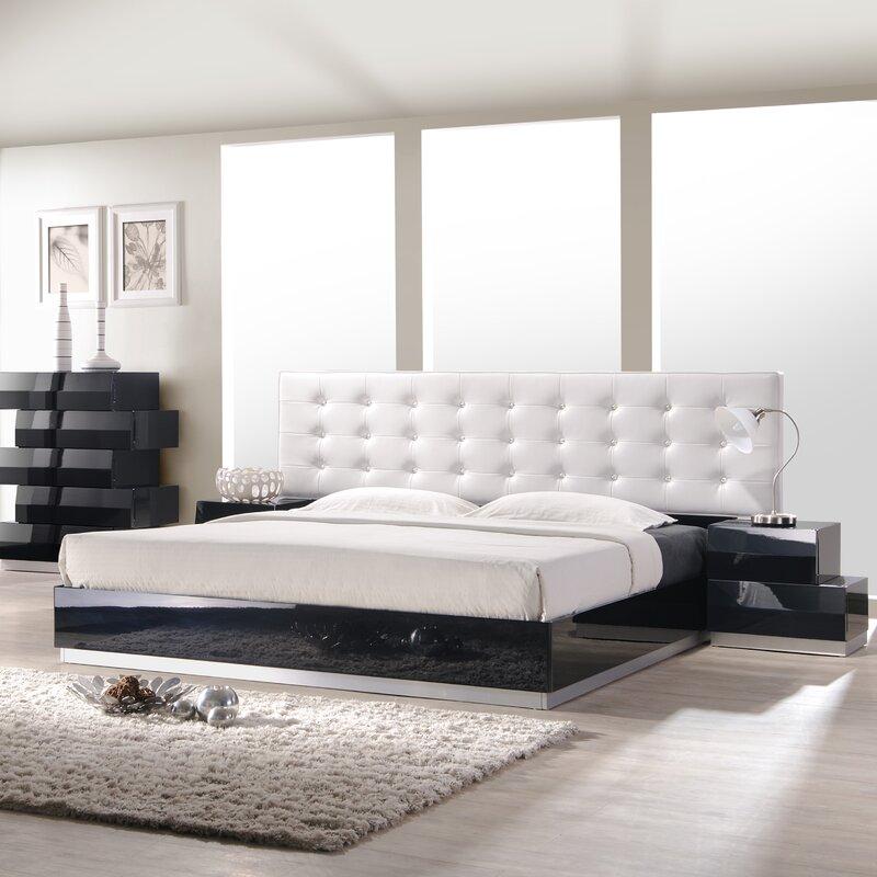 modern upholstered beds | allmodern
