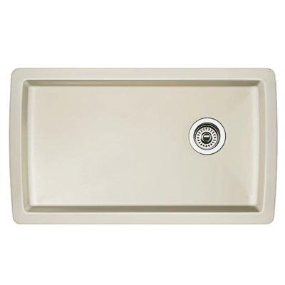 Blanco Diamond 33.5 L x 18.5 W Undermount Kitchen Sink Color: Biscuit