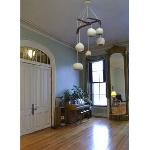 Newmanstown Boomerang 6-Light LED Pendant by Bloomsbury Market