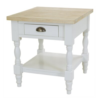 Abby Ann End Table With Storage by August Grove