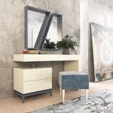 Lumpkins Vanity Set with Stool by Everly Quinn
