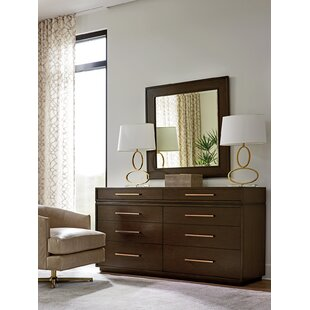 Zavala 8 Drawer Double Dresser with Mirror