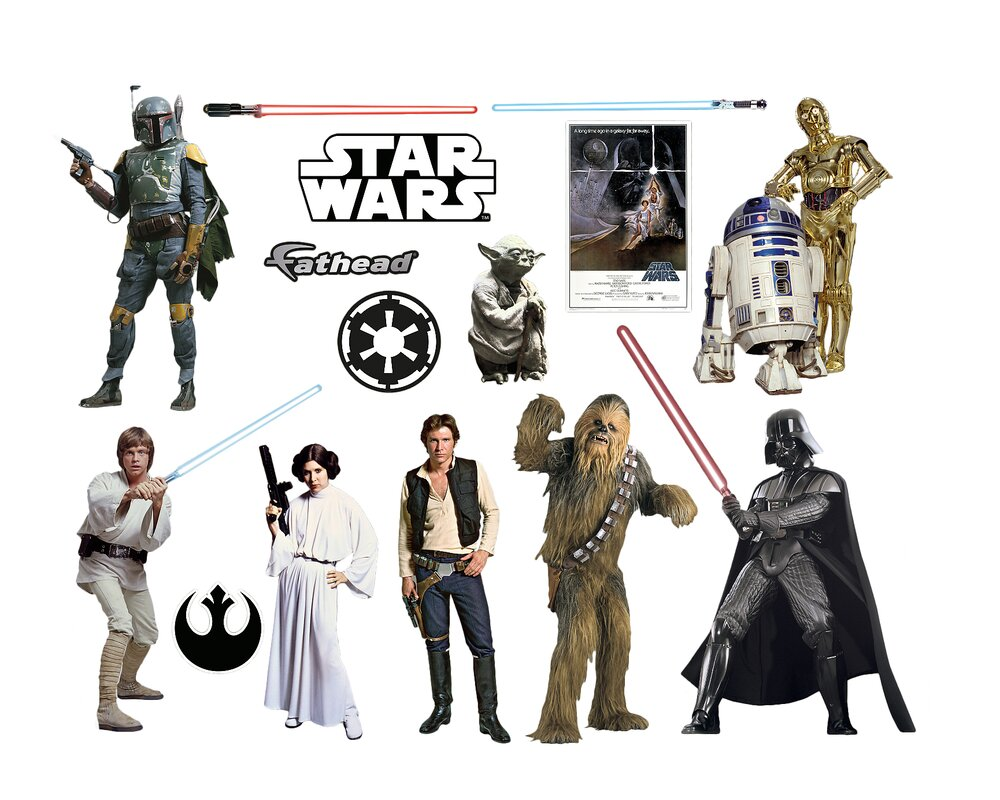 Fathead star wars original trilogy characters peel and stick wall star wars original trilogy characters peel and stick wall decal amipublicfo Gallery