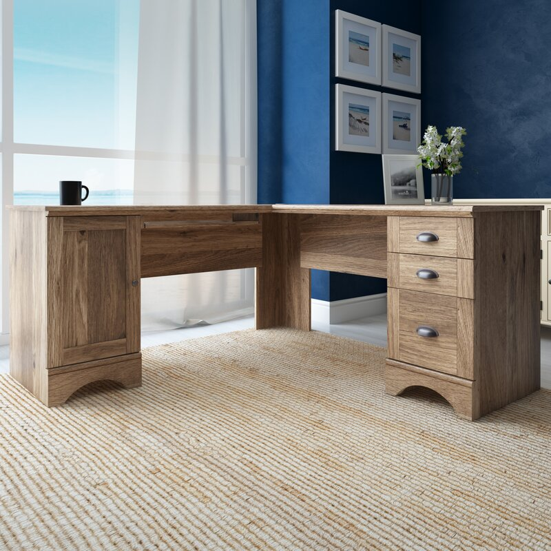 White Executive Desk With Drawers beachcrest home pinellas executive desk & reviews | wayfair