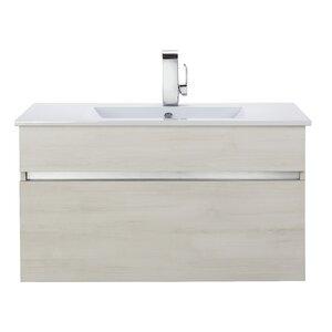 Ivory Floating 36 Single bathroom Vanity