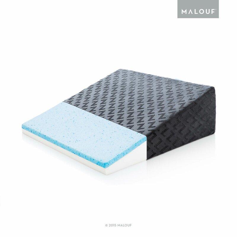 Z Gel Infused Memory Foam Wedge Pillow
