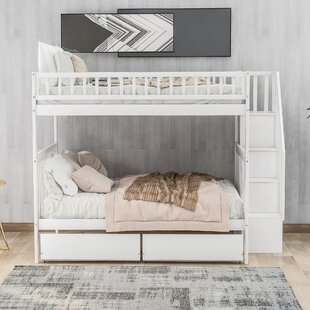 Shallenor Twin over Twin Bunk Bed with Trundle and Shelves