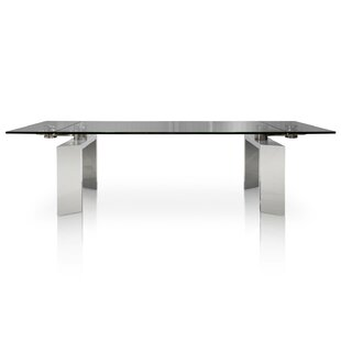 Arche Extendable Glass Top Dining Table b..