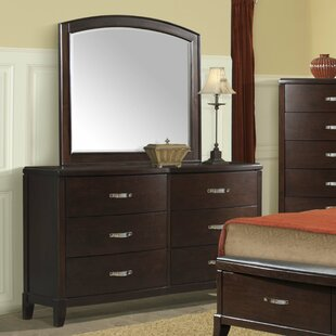Mcduffie 6 Drawer Double Dresser with Mirror