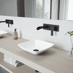 Hyacinth Stone Square Vessel Bathroom Sink with Faucet VIGO
