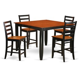 Parfait 5 Piece Counter Height Dining Set Wooden Importers