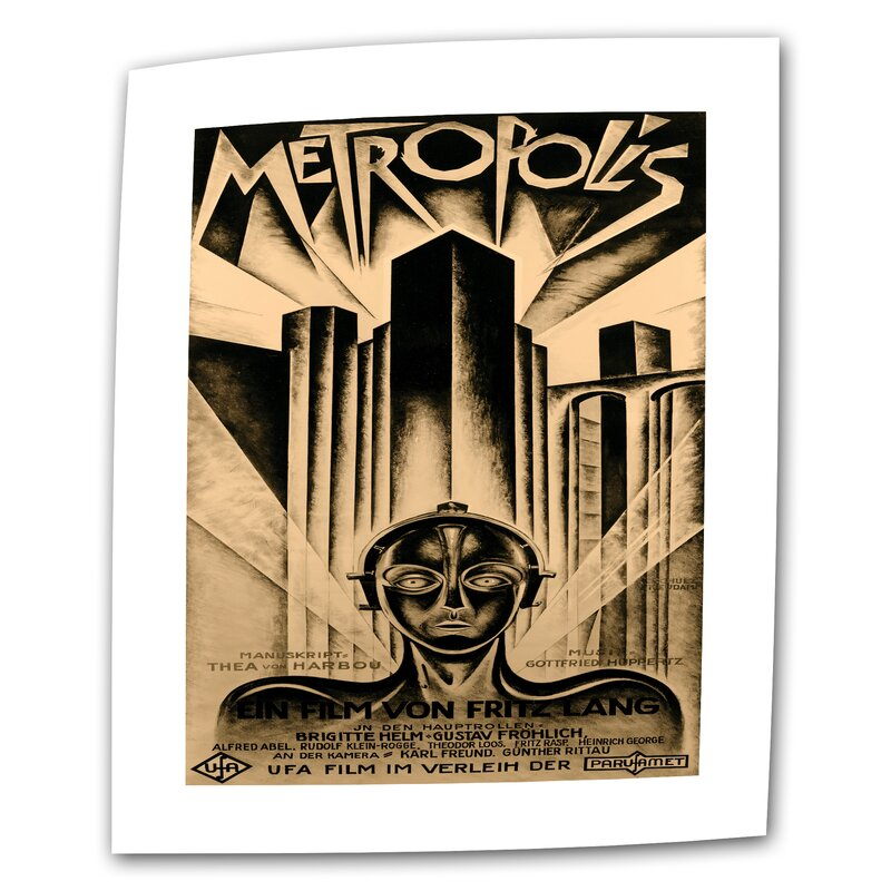 Metropolis Movie Poster Vintage Advertisement on Rolled Canvas