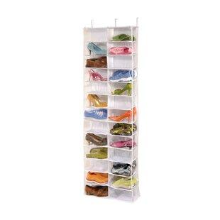 Purchase Clear Vinyl Storage 26 Pair Overdoor Shoe Organizer ByRichards Homewares