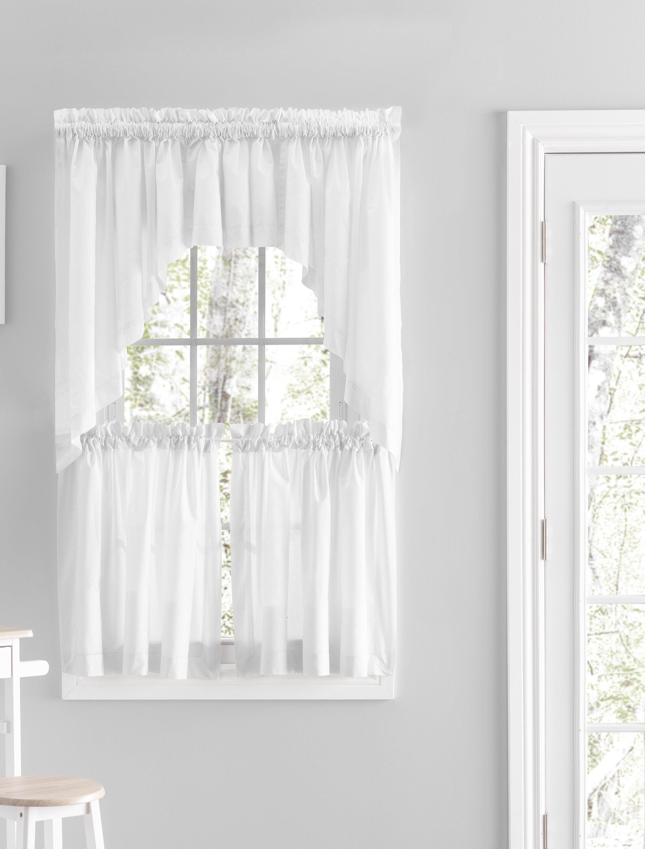 Gracie Oaks Alverson Solid Color Cotton Swag 80 Window Valance Reviews Wayfair