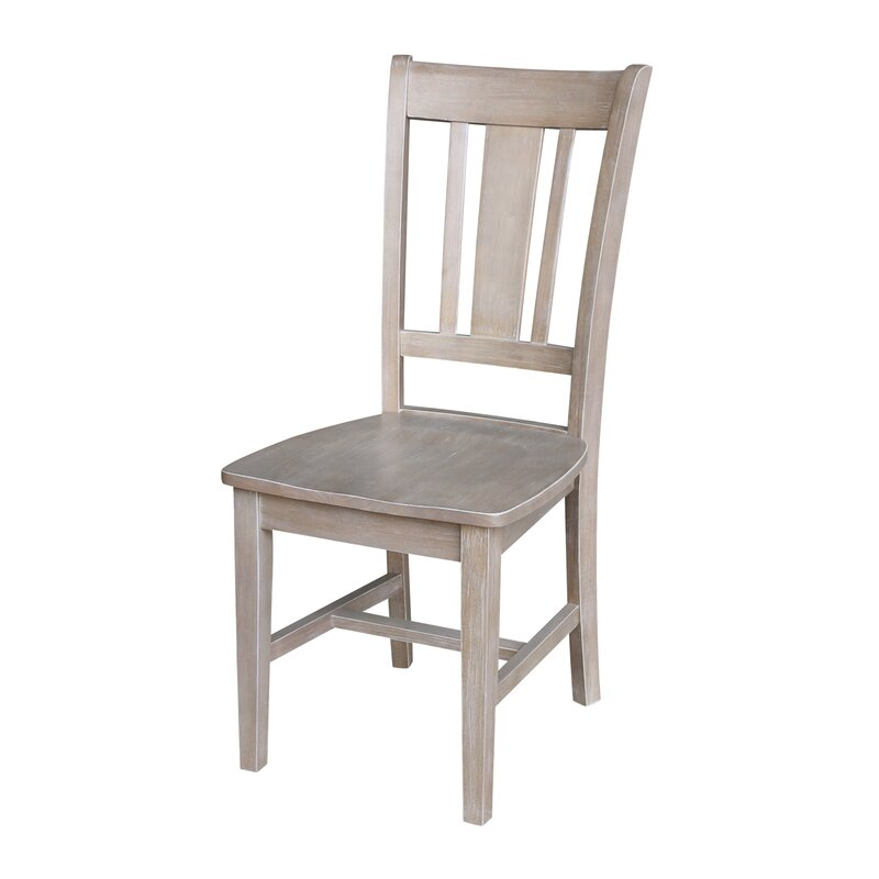 August Grove Malcolm Solid Wood Dining Chair (Set of 2)