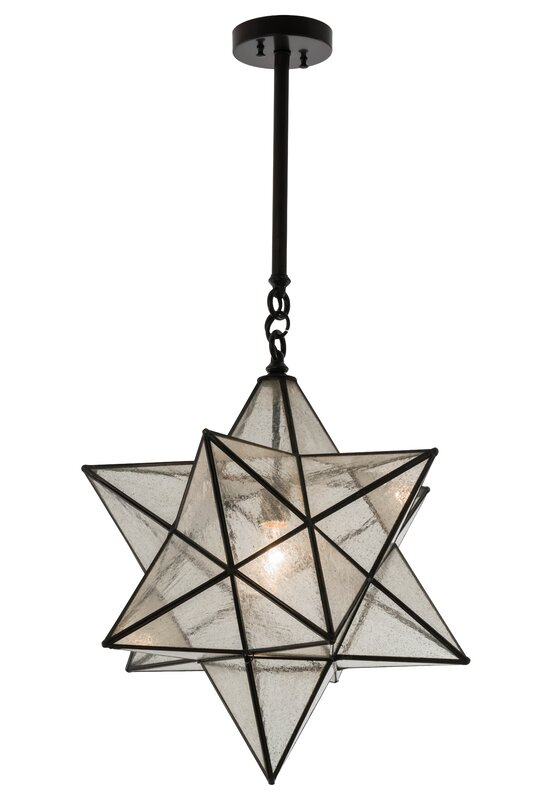 Moravian Star 1-Light Geometric Pendant #starpendant