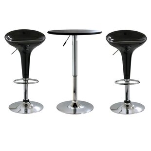 Latitude Run Southampton 3 Piece Adjustable Height Pub Table Set