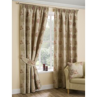 Arden Pencil Pleat Semi Sheer Curtains Set Of 2